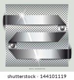 metal background.vector... | Shutterstock .eps vector #144101119