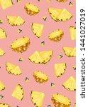 pineapple fruits slice seamless ...   Shutterstock .eps vector #1441027019