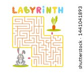 square labyrinth with gray... | Shutterstock .eps vector #1441041893