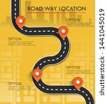 street map with navigation... | Shutterstock .eps vector #1441045019