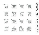 shopping cart related icons ... | Shutterstock .eps vector #1441047863