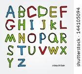 vector paper graphic alphabet... | Shutterstock .eps vector #144105094
