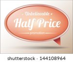 banner tag for promotion. can... | Shutterstock .eps vector #144108964
