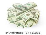 money house from dollars usa... | Shutterstock . vector #14411011