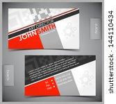 vector abstract creative... | Shutterstock .eps vector #144110434