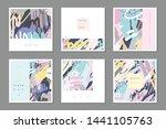 set of abstract multipurpose... | Shutterstock .eps vector #1441105763
