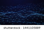 network connection dots and... | Shutterstock . vector #1441105889