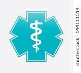 caduceus medical symbol... | Shutterstock . vector #144111514