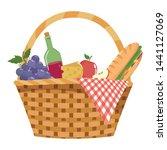 isolated picnic basket design... | Shutterstock .eps vector #1441127069