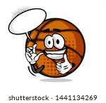 funny basketball ball cartoon... | Shutterstock .eps vector #1441134269