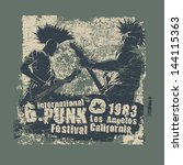retro design punk festival for... | Shutterstock .eps vector #144115363