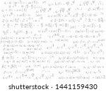 set of mathematical formulas... | Shutterstock .eps vector #1441159430