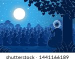 lord of buddha sermon dharma to ... | Shutterstock .eps vector #1441166189