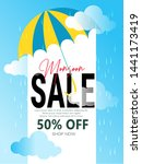 monsoon season sale with... | Shutterstock .eps vector #1441173419