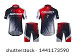 cycling jerseys mockup t shirt... | Shutterstock .eps vector #1441173590