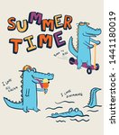 Summer Time Crocodile Vector...