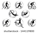icon of summer sports | Shutterstock .eps vector #144119800