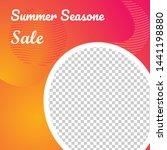 social media poster  summer... | Shutterstock .eps vector #1441198880