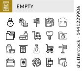 set of empty icons such as... | Shutterstock .eps vector #1441229906