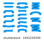 flat vector ribbons banners... | Shutterstock .eps vector #1441235240