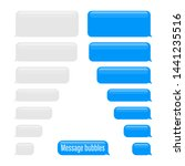 flat messages bubbles. chat... | Shutterstock .eps vector #1441235516