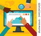 http domain concept background. ... | Shutterstock .eps vector #1441241420