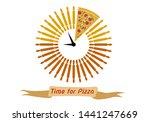 a clock made of bread dough... | Shutterstock .eps vector #1441247669