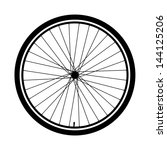 silhouette of a bicycle wheel | Shutterstock .eps vector #144125206