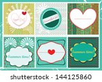 greeting card and label set