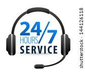 service call center for... | Shutterstock .eps vector #144126118