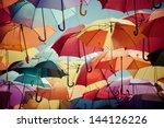Background Colorful Umbrella...