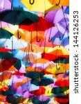 Background Colorful Umbrella...