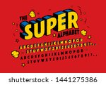 the super alphabet. 3d effect... | Shutterstock .eps vector #1441275386
