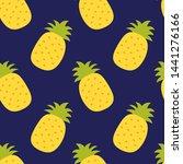 pineapple seamless pattern....   Shutterstock .eps vector #1441276166