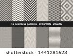 chevron pattern collection.... | Shutterstock .eps vector #1441281623