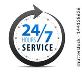 service and support for... | Shutterstock .eps vector #144128626