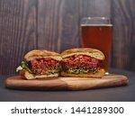 Vegan Plant Based Burger Split...