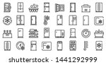 fridge icons set. outline set... | Shutterstock .eps vector #1441292999