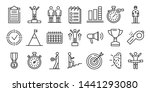 coach icons set. outline set of ... | Shutterstock .eps vector #1441293080