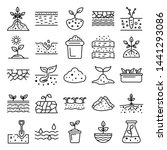 Soil Ground Icons Set. Outline...