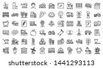 Farmer Icons Set. Outline Set...