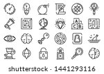 quest icons set. outline set of ... | Shutterstock .eps vector #1441293116