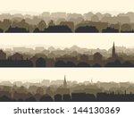 vector of horizontal banners... | Shutterstock .eps vector #144130369