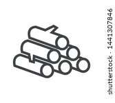 line icon stack of logs. simple ... | Shutterstock .eps vector #1441307846