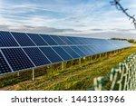 solar farm with photovoltaic... | Shutterstock . vector #1441313966