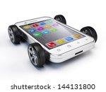 smartphone on wheels | Shutterstock . vector #144131800