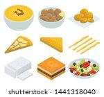 greek cuisine icons set.... | Shutterstock .eps vector #1441318040