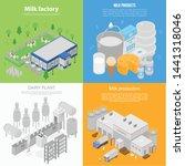 modern milk factory banner set. ...   Shutterstock .eps vector #1441318046