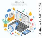 notification message concept... | Shutterstock .eps vector #1441318106