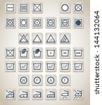complete vector set of 37... | Shutterstock .eps vector #144132064